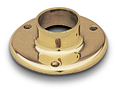 Brass pole floor flange